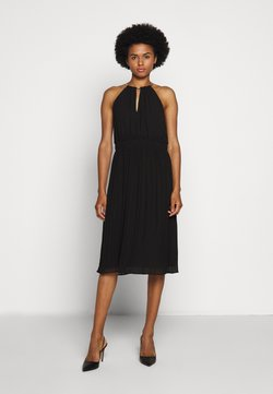 MICHAEL Michael Kors - CHAIN NECK MIDI DRESS - Cocktailkleid/festliches Kleid - black
