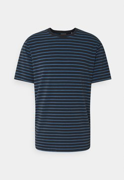 Scotch & Soda - CLASSIC CREWNECK - T-Shirt print - dark blue/blue