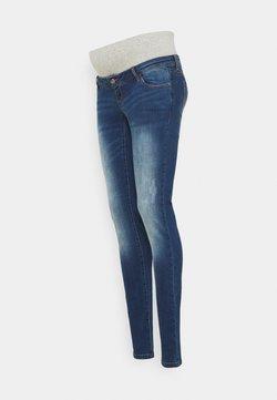 MAMALICIOUS - MLFLORIDA SHORT BUMPBAND - Jeans Slim Fit - dark blue denim/washed