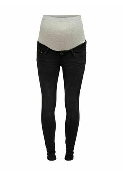 ONLY MATERNITY - Jeansy Slim Fit - black