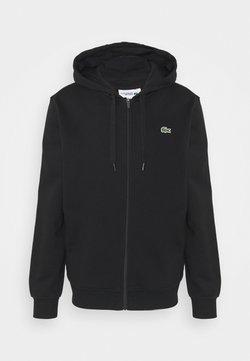 Lacoste - CLASSIC HOODIE - veste en sweat zippée - black