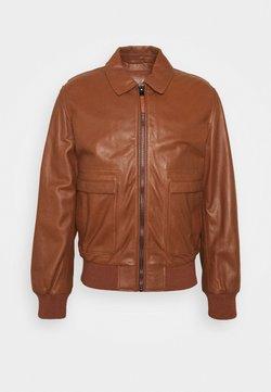 Trussardi - JACKET - Leather jacket - tortoise shell