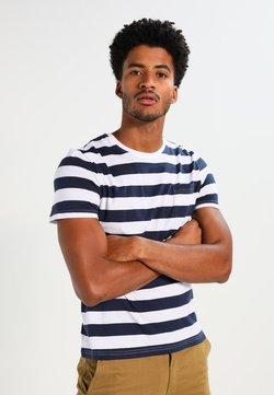 Pier One - T-Shirt print - dark blue/white