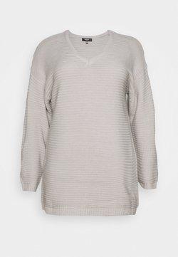 Missguided Plus - PLUS V NECK JUMPER DRESS - Robe pull - grey