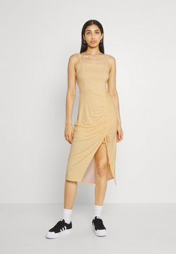 Hollister Co. - MIDI DRESS - Jerseykleid - yellow floral