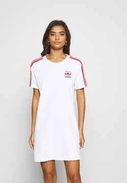 adidas Originals - STRIPES SPORTS INSPIRED REGULAR DRESS - Jerseykleid - white/scarlet