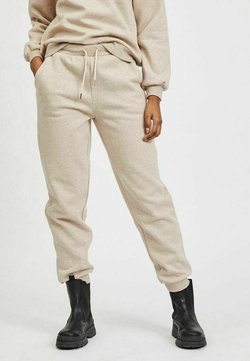Vila - HIGH WAIST - Jogginghose - natural melange