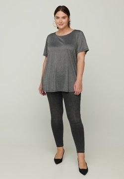 Zizzi - SPARKLY  - T-Shirt basic - black