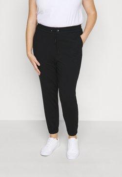 Vero Moda Curve - VMEVA LOOSE TRACK PANTS - Jogginghose - black