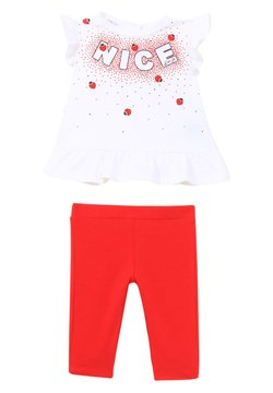 Liu Jo Kids - SET - Broek - white/red