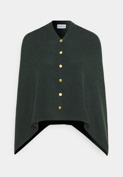 Davida Cashmere - PONCHO WITH BUTTONS - Cape - dark green