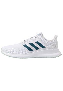 adidas Performance - RUNFALCON - Hardloopschoenen neutraal - footwear white/tech mint/dash grey