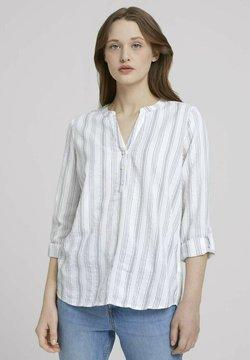 TOM TAILOR DENIM - STRIPED - Bluse - white green vertical stripe