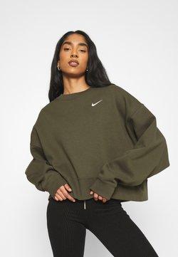 Nike Sportswear - CREW TREND - Collegepaita - khaki/white