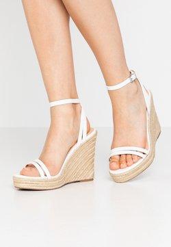 Even&Odd Wide Fit - Sandalen met hoge hak - white