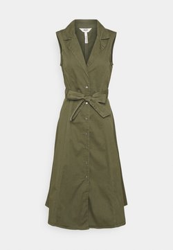 Object Petite - OBJTENA DRESS - Vestido camisero - deep lichen green