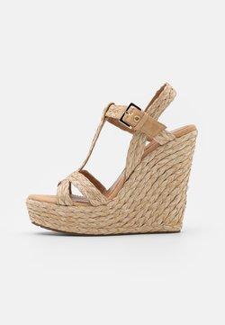 Pura Lopez - Platform sandals - taupe