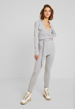 Missguided - COLLARED BELTED - Combinaison - grey