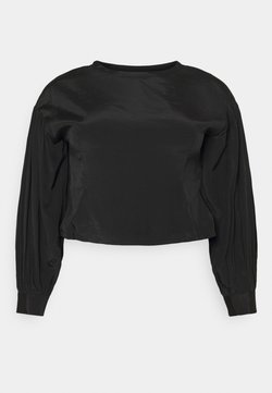 Glamorous Curve - OPEN BACK BLOUSE WITH PUFF SLEEVES - Blusa - black