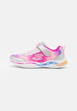 Skechers - POWER PETALS - Matalavartiset tennarit - silver/pink