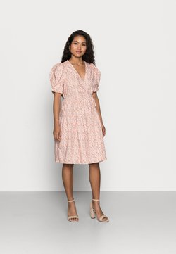 YAS Petite - YASRICCA WRAP DRESS - Day dress - roseate spoonbill