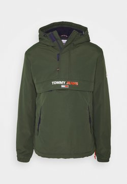 Tommy Jeans - SOLID POPOVER JACKET UNISEX - Giacca a vento - dark olive