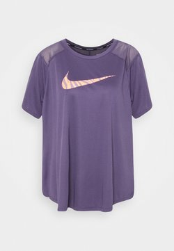 Nike Performance - ICON CLASH RUN - Camiseta estampada - dark raisin/reflective silver
