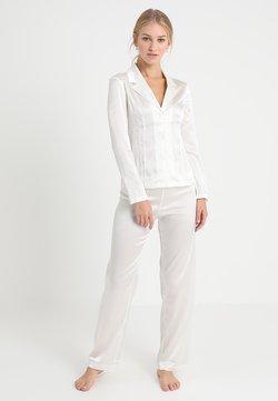 La Perla - LONG PAJAMAS SHORT VERSION SET - Pyjama set - offwhite