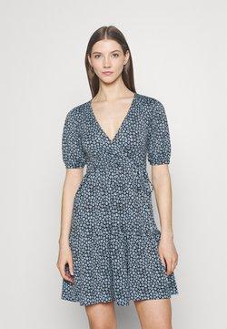 Gina Tricot - TUVA DRESS - Jerseykjole - blue/black