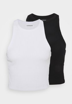 Even&Odd - 2 PACK - Top - black/white