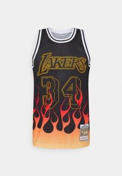 Mitchell & Ness - NBA LOS ANGELES LAKERS FLAMES SWINGMAN SHAQUILLE O'NEAL - Pelipaita - black