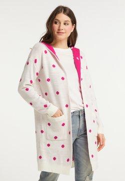 myMo - Strickjacke - wollweiss pink