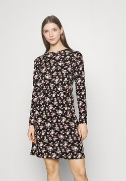 ONLY - ONLELCOS EMMA ELASTIC DRESS - Vestido de punto - black