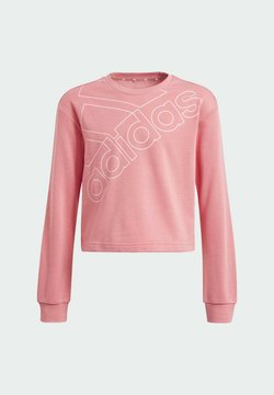 adidas Performance - ADIDAS ESSENTIALS LOGO SWEATSHIRT - Stickad tröja - pink