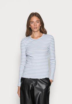 Selected Femme - SLFANNA CREW NECK TEE - Langarmshirt - brunnera blue