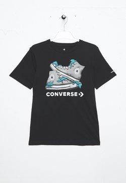 Converse - BIO CHUCKS TEE - T-shirt z nadrukiem - black