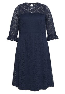 Dorothy Perkins Curve - OCCASION 3/4 SLEEVE DRESS - Day dress - navy
