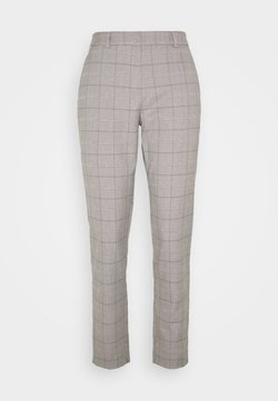 Dorothy Perkins Tall - TALL GREY CHECK ANKLE GRAZER - Stoffhose - light grey