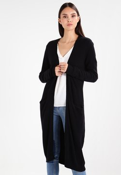 Vila - VIRIL LONG CARDIGAN - Neuletakki - black