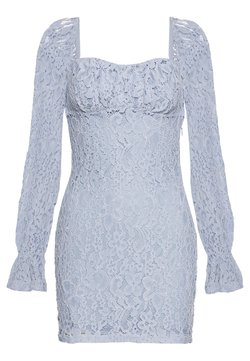 NA-KD - RUCHED MINI DRESS - Cocktailklänning - dusty light blue