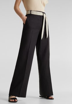 Esprit Collection - HR FLARED - Stoffhose - black
