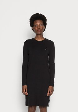 Calvin Klein - A-LINE LOGO DRESS - Gebreide jurk - black