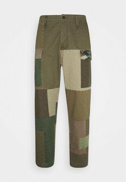 Denham - PATCHWORK PANT - Trousers - army green