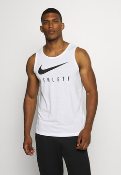 Nike Performance - TANK ATHLETE - Funktionsshirt - white/black