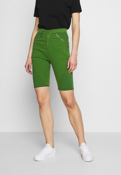 House of Holland - BODY CON ZIP  - Denim shorts - green