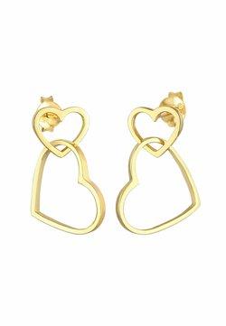 Elli - HEART - Pendientes - gold