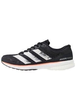 adidas Performance - ADIZERO ADIOS 5 - Laufschuh Neutral - core black/footwear white/signal coral