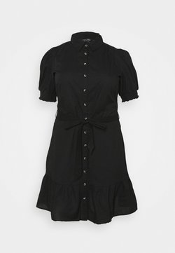 Dorothy Perkins Curve - DAISY PUFF SLEEVE SHIRT DRESS - Blusenkleid - black