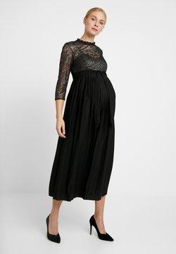 Little Mistress Maternity - GUNMETAL AND PLEATED HEM DRESS - Ballkleid - black