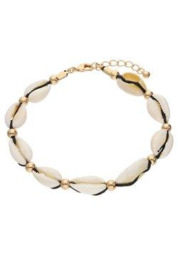 Six - MIT MUSCHEL-MOTIV UND METALLPERLEN - Bracelet - goldfarben